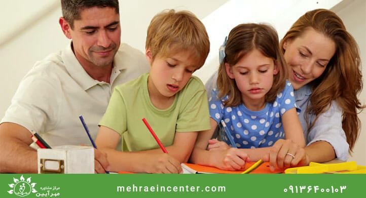 تربیت فرزندان توسط مشاور خانوده
